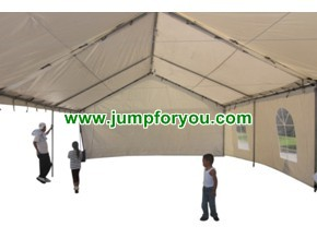20x30 White Party Tent w/ Sidewalls (interior)