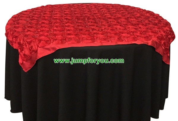 Round Table Cover (Black/Red)