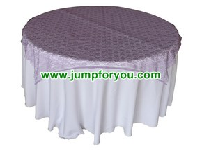 White Pink Round Tablecloth