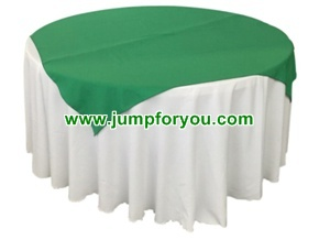 Round Table Cover (White/Green)
