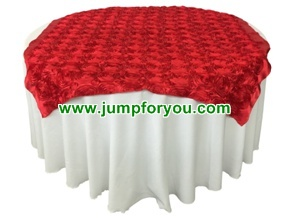 Round Table Cover (White/Red)